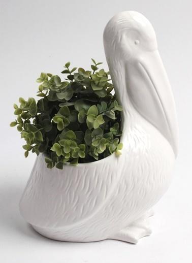 Pelikan Motifli Dekoratif Obje & Çiçeklik-Warm Design
